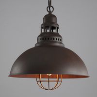 American retro антикварной железной абажур одного головы подвесной светильник промышленного ветер E27 вольфрама свет лампы освещения Лофт украшен