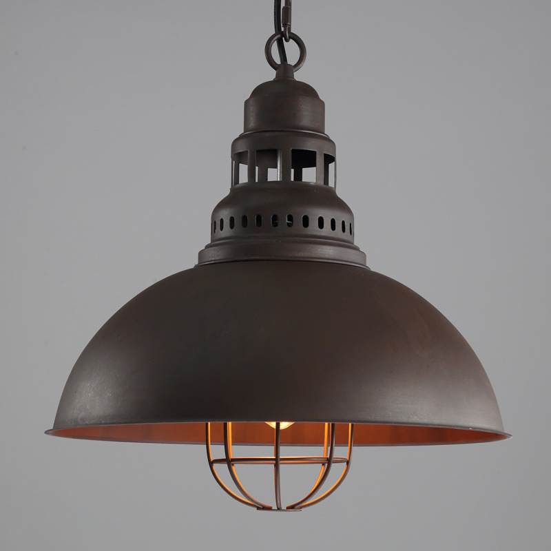 American retro antique iron lampshade single head pendant lamp industrial wind E27 tungsten light bulb lighting loft decorationAmerican retro antique iron lampshade single head pendant lamp industrial wind E27 tungsten light bulb lighting loft decoration
