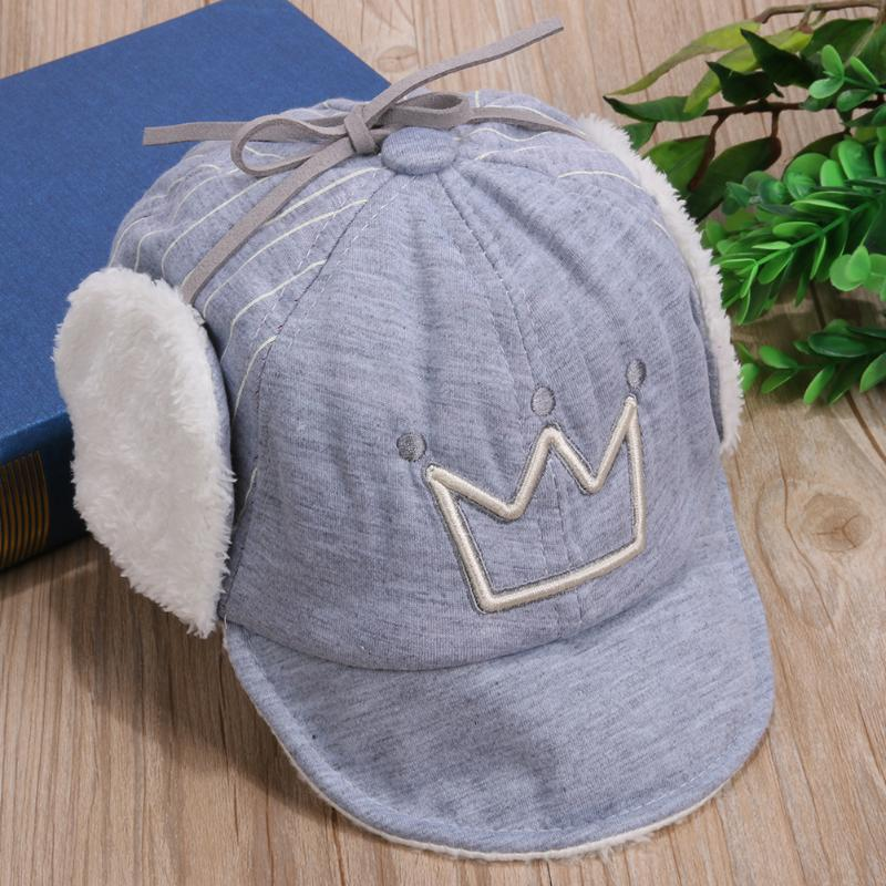 a8707754cb9 Baby Boy Girl Autumn   Winter Warm Cap Crown Thick Ear Protection Kids  Infant toddler Beanies Cap Baby Clothing Accessories-in Hats   Caps from  Mother ...