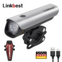 Linkbest USB Rechargeable Bike Light Set StVZO Approved , Bicycle Light Waterproof IPX 5, Adjustable Bracket Fit For All Bikes