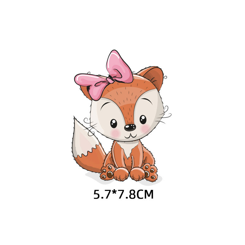 Милые маленькие животные Единорог Сова собака кошка патч для одежды стикер для детей мальчик девочка DIY патчи Футболка теплопередача Винил - Цвет: zt1110