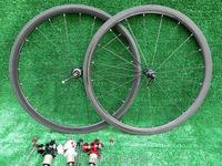 1pair Newest Lightest 700C 38mm Tubular Rims Road Bicycle 3K UD 12K Full Carbon Bike Wheelsets