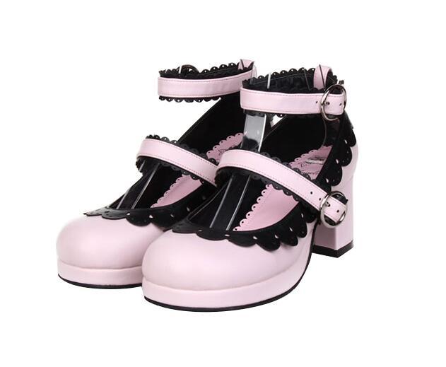 Lolita Femme 33 1 4 Angéliques Mori Mentions 3 Robe Haute Cosplay Légales 5 Pompes Chaussures 47 2 Princesse Classique Femmes Fille Japon Talons Lady Y84Yw