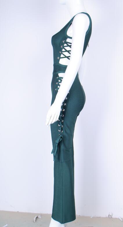 Barboteuses Combinaisons Salopette 2017 Longueur Celebrity Body Summer Bandage Évider up Dentelle Femmes Pleine New Party T6TxqgEwt