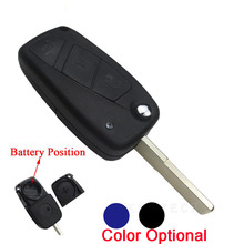 3 Buttons Flip Remote Car Key Case For FIAT PANDA DUCATO PUNTO STILO Uncut Blade Car Styling Replacement Keyless Fob Shell Cover