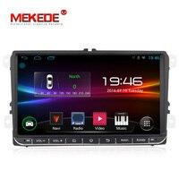 Mekede 9inch Android Car radio multimedia for Volkswagen Skoda Octavia golf 5 6 touran passat B6 polo tiguan with GPS Navigation