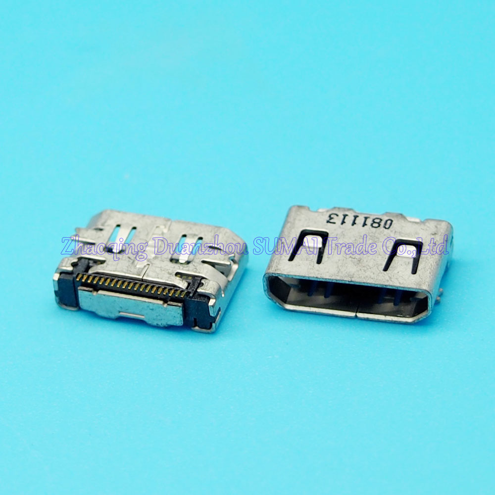 10pcs/lot 19Pin HDMI Jack HD Connector For Dell Sumsung Lenovo Acer etc Short Type 180 Degree SMD