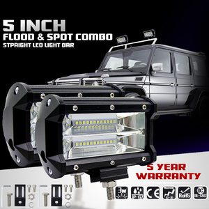 Image 4 - 5 Inch 72W Four Rows Led Light Bar Outdoor Modified Off Road Roof Light Bar 6000K 10800LM Car Work Light Daytime Running Lights