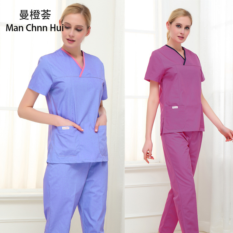 Medical Clothes Scrub Sets Surgical Gowns Doctors Nurses Beauty Uniforms Dentistry Oral Clinic Pet Doctor Workwear