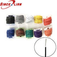 10M 30AWG 32AWG electronic Cable tinned copper wire OD 0.6MM 0.8MM environmentally pvc circuit board connect wire 10colors