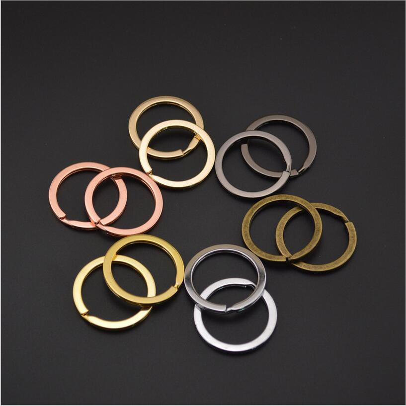 10pcs/lot 30mm Rose Gold Silver Color Key Chains Split Ring Key Rings For Bag Diy Jewelry Making Sleutelhanger Key Chain Rings 100pcs key rings metal split rings flat key chains rings black silver 25mm 32mm
