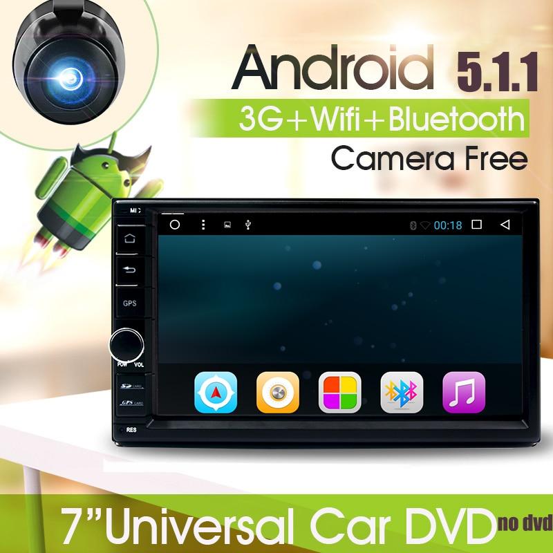 Quad core 2 din 7 inch android 5.1 Universal Car DVD Player for Nissan juke qashqai almera x trail note X-TRAIL GPS+2din HD