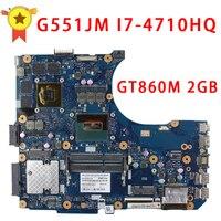 עבור לוח האם ASUS G551JM N551JM REV2.0 i7-4710HQ GeForce GTX860M מעבד 2 GB USB2.0 HM86 DDR3 VRAM 100% נבדק באופן מלא
