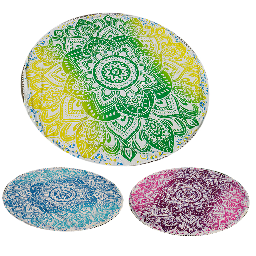 Print Round Beach Towel Large Yoga Mat Indian Mandala Throw Bath Towels For Adult Tablecloth Picnic Blanket