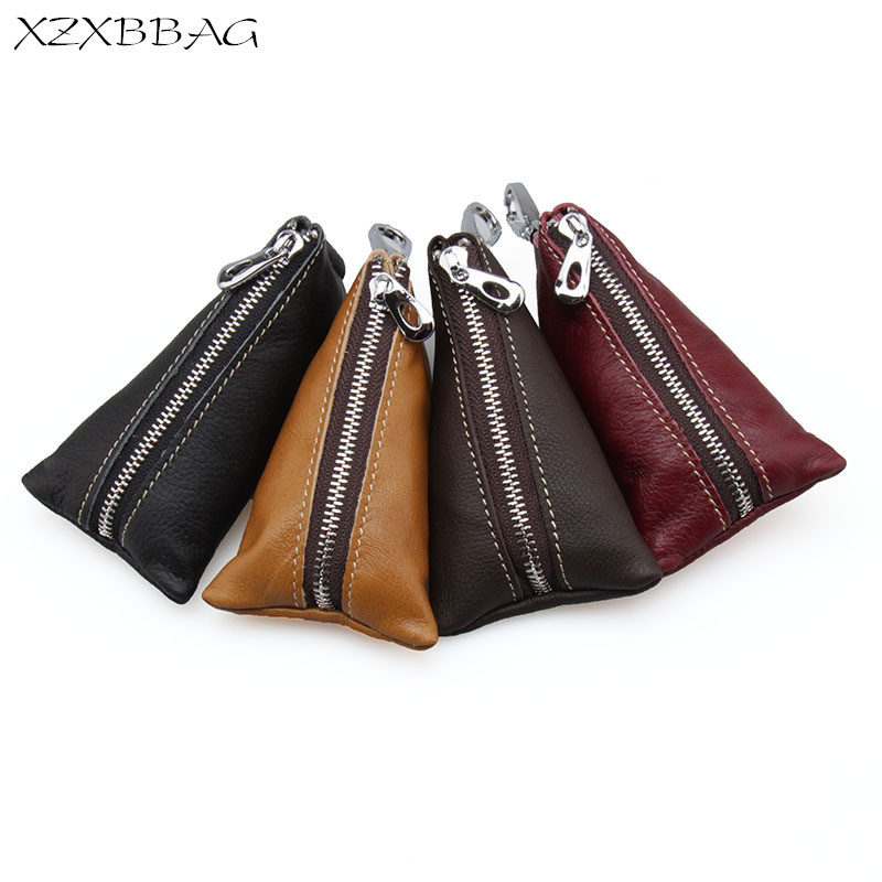 XZXBBAG 100% Genuine Leather Key Wallet Unisex Keychain Cover Men Door Car Key Case Bag Holder Women Key Organizer Housekeeper 2018 hot sale pu leather housekeeper holders car keychain key holder bag case wallet cover key organizer high quality guaranteed