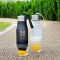 New Xmas Gift 650ml Water Bottle plastic Fruit infusion bottle Infuser Drink Outdoor Sports Juice lemon Portable Kettle