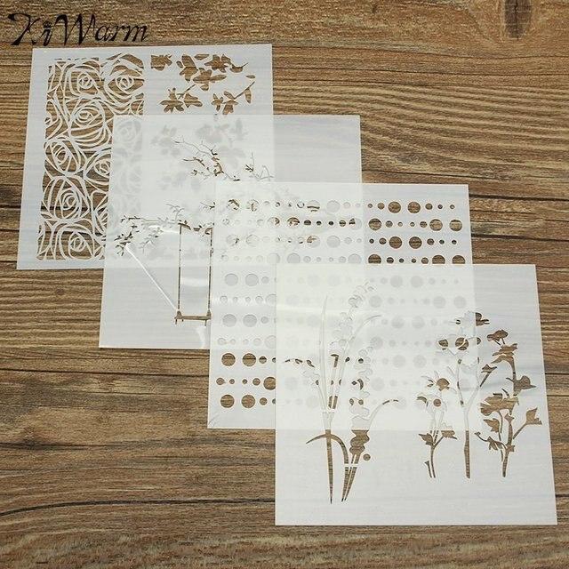 1 pieza unids patrón mixto plantillas de capas Plantilla de ...