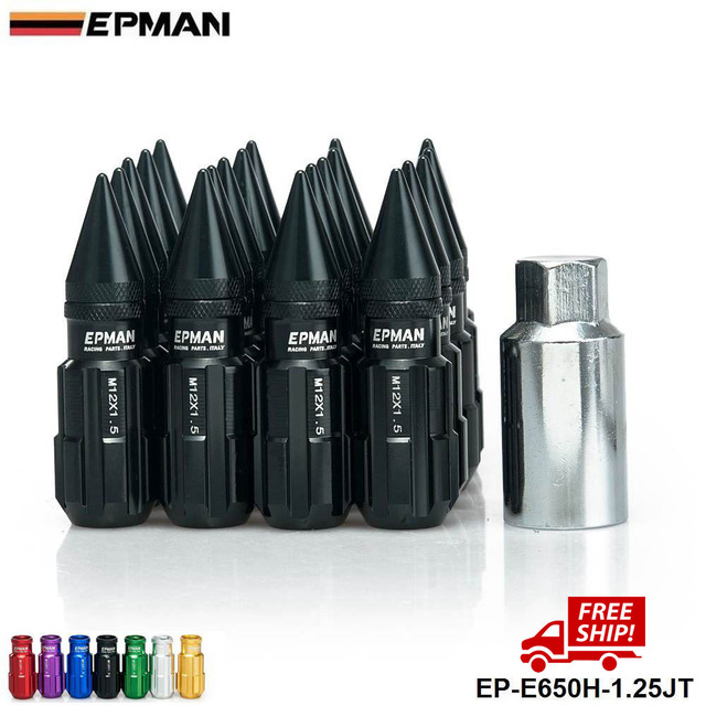 OEM AUTHENTIC EPMAN M12 X 1.25 With Spikes Racing Sports Car Lug Wheel Nuts Screw 20PCS Long EP-E650H-1.25JT-FS
