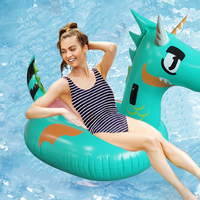 HOT Inflatable Giant Pool Float for Adult Kids Dinosaur T REX Swimming Ring Children Green Dragon Water Mattress Beach Party Toy