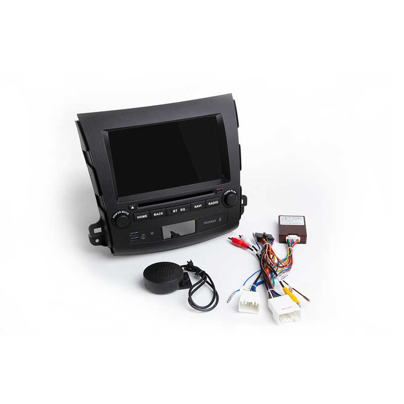 Android 8,0 автомобильный DVD gps мультимедийный плеер для MITSUBISHI OUTLANDER 2012-2006 Восьмиядерный радио с рулевым колесом OBD Wifi ips
