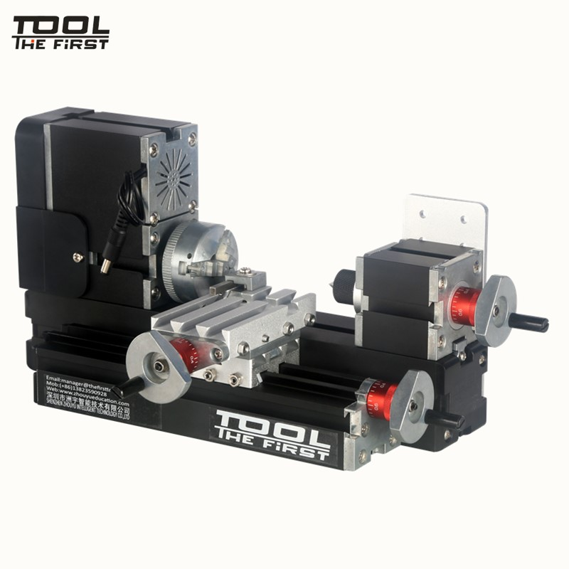 Thefirsttool TZ20002M Big Power Mini Metal Lathe Machine 60W 12000rpm Motor, Standardized Children Education DIY Tool Best Gift big power mini metal lathe machine tz20002m best gift for children and students