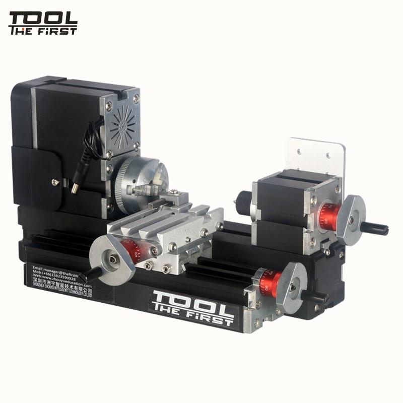 Thefirsttool TZ20002M Big Power Mini Metal Lathe Machine 60W 12000rpm Motor, Standardized Children Education DIY Tool Best Gift