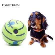 CellDeal Wobble Wag Giggle мяч для собак играть обучение игрушки для домашних животных с забавным звуком Горячая без вреда большая собака писклявые игрушки мяч для собак