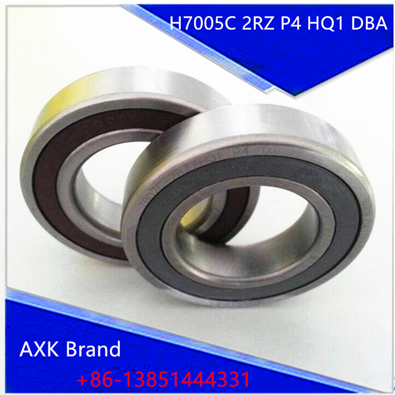 1pair H7005C 2RZ P4 HQ1 DBA 7005 25X47X12 Double sealed angular contact bearings Speed spindle bearings CNC ABEC 7 kova