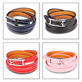 Tracked, 4 Colors, Fashion Red 3 Multi Layer Bracelets 2017 Leather Bracelet Women Gift,Punk Women Braclet Men Pulseras Hombre