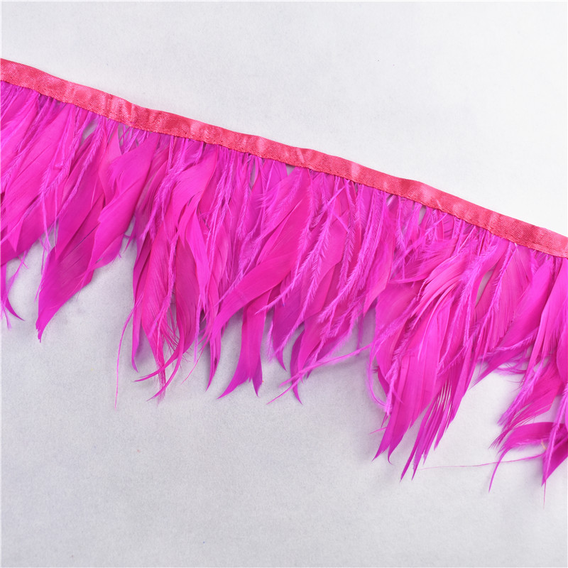 10meters ostrich feathers goose feathers ribbonTrims feather for crafts  carnival costume feather DIY wedding decoration Plumes-in Feather from Home & Garden    3
