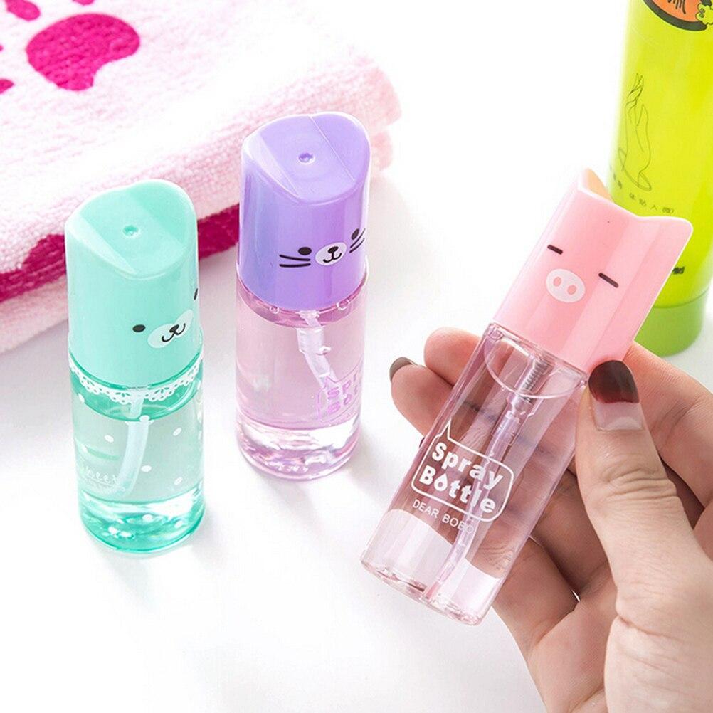 1pcs 35ml Cute CartoonTransparent Perfume Atomizer Hydrating Sprayer Empty Spray Bottle Hairstyling Refillable Bottle Tools