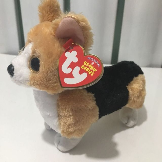 70b77d86021 15cm OTIS - corgi brown dog WITH HEART TAG AND TUSH LABEL TY BEANIE BABIES  1PC