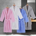 Men bath robe gown plus size cotton long thicken warm sleepwear women nightgown men home towel fleece autumn winter grey blue