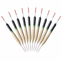 10pcs/lot 2g Fishing Floats 14cm Vertical Buoy Fish Paulownia Wooden Floats Suit For Sea Boat Pool Fishing Tackle Pesca
