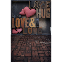 Valentine Day Love Photography Studio Background High Grade Vinyl Silk Cloth Computer Printed Newborn Baby Backdrops