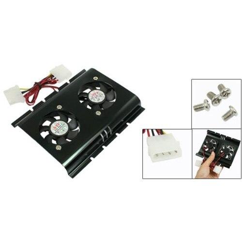 PROMOTION! Hot Hot Sale Practical Black 3.5 SATA IDE Hard Disk Drive HDD 2 Fan Cooler For PC