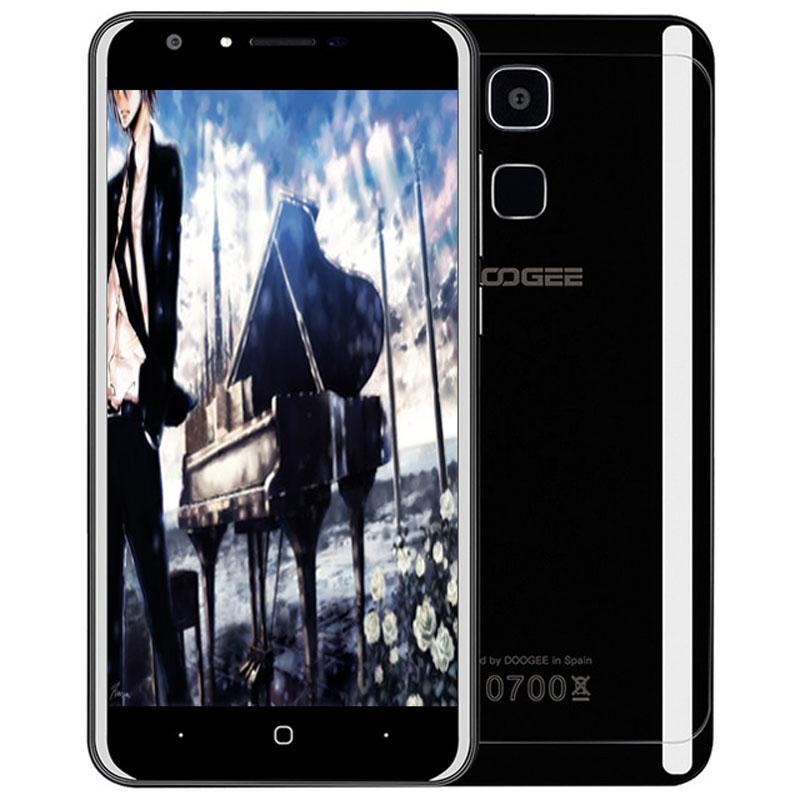 Цена за Оригинал doogee y6 piano black android 6.0 5.5 дюймов 4 г смартфон MTK6750 Окта основные 1.5 ГГц 4 ГБ RAM 64 ГБ ROM 8.0MP + 13.0MP камеры
