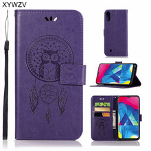For Samsung Galaxy M10 Case Luxury Flip Wallet Phone Card Holder Fundas Back Cover