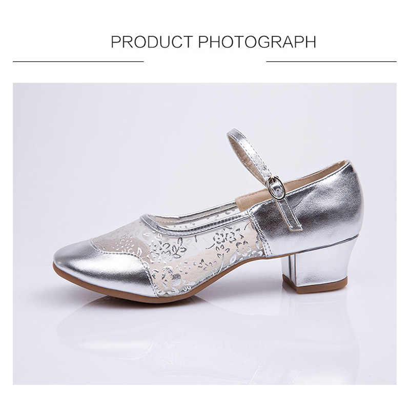 Nancy tino square dance shoes 여성용 현대 살사 탭 라틴 댄스 신발 재즈 통기성 메쉬 에어로빅 신발