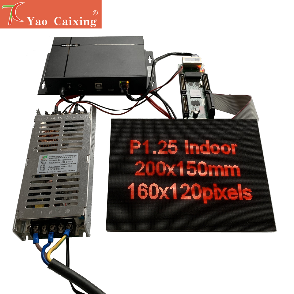 Free Shipping P1.25 Indoor Panel With Novastar TB2 Wifi Controller ,MRV210 Receiving Card , Slim Power Supply
