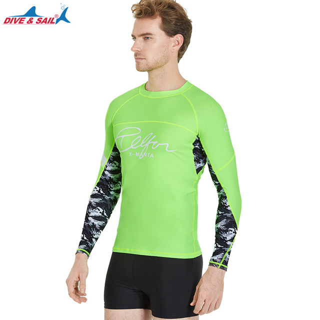 00461aa0c US $31.27 |Sun Protection Men's Basic Skins Long Sleeve Rashguard Top  Athletic Shirts Compression & Base Layer for Wetsuits Rash Guard-in Wetsuit  from ...