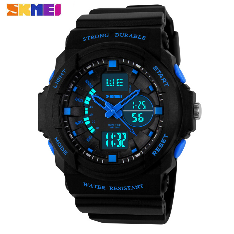 SKMEI Luxury Brand Men Sports Watches Digital LED Quartz Wristwatches Rubber Strap Military Watch For Children Boys Male Clock ohsen watches brand new luxury men swimming digital led quartz watch outdoor sports watches military waterproof man clock rubber