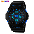 SKMEI Luxury Brand Men Sports Watches Digital LED Quartz Wristwatches Rubber Strap Military Watch For Children Boys Male Clock