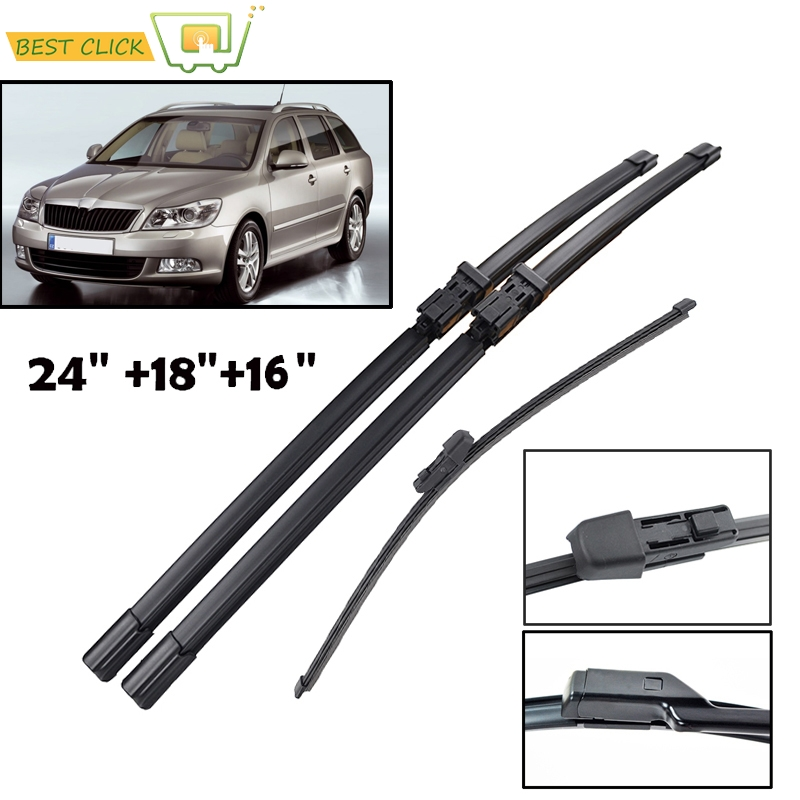 Front Rear Wiper Blades Skoda Superb Estate 2010 2011 2012 2013 2014 2015