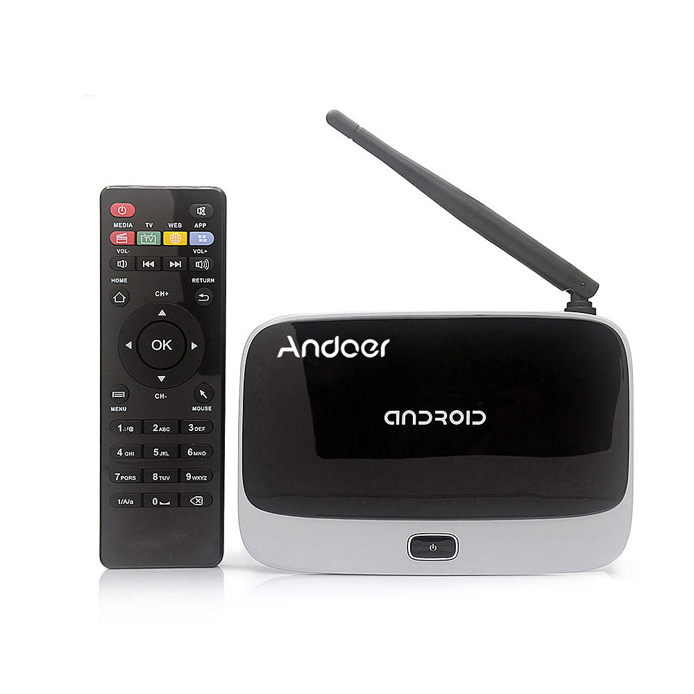 ФОТО New!! Andoer Android 4.4 TV Box Quad Core Mali-400 GPU 2G/32GB Media Player Player support 4K XBMC DLNA Miracast Airplay Wifi