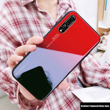 For Huawei P20 Pro Nova 3 3i Mate 20 Lite 10 Glass Cases Honor 8X Cover Luxury Gradient Tempered Case