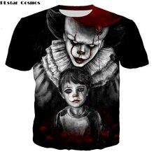 PLstar Cosmos 3d Print T-shirt Men/Women 3d Stephen King's It T shirts O-neck Short Sleeve Streetwear Unisex Summer T shirt Tops цена