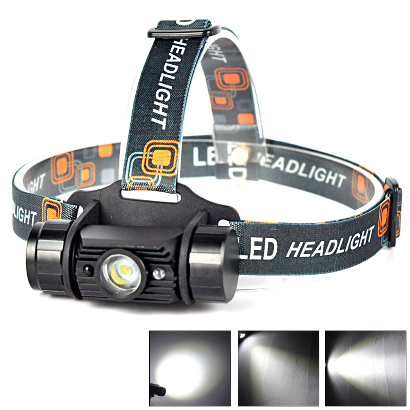 IR Sensor 1000Lm 3W LED 1 Mode Headlight USB Rechargeable Bike Head Lamp Torch font b