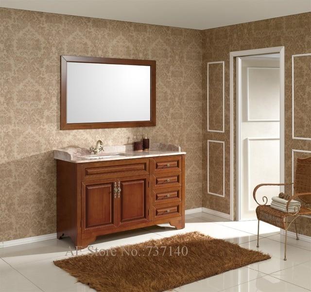 armoire de toilette avec miroir en bois massif meubles de salle de bains avec marbre paillasse. Black Bedroom Furniture Sets. Home Design Ideas