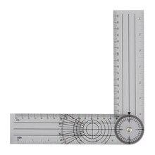 Régua multirégua profissional de 360 graus, régua de espinha de ângulo de alta qualidade, 1 peça